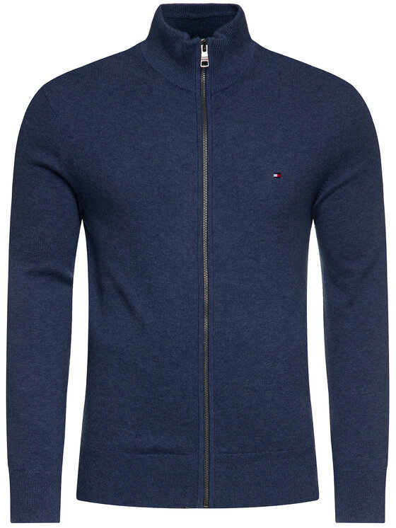 Tommy Hilfiger Tommy Hilfiger Sweater Pima MW0MW11675 Sötétkék Slim Fit