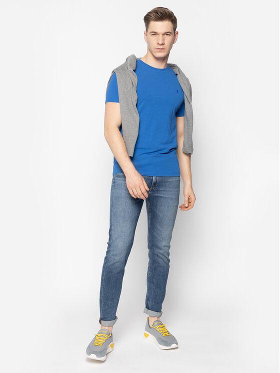 Trussardi Trussardi Tricou 52T00309 Albastru Slim Fit