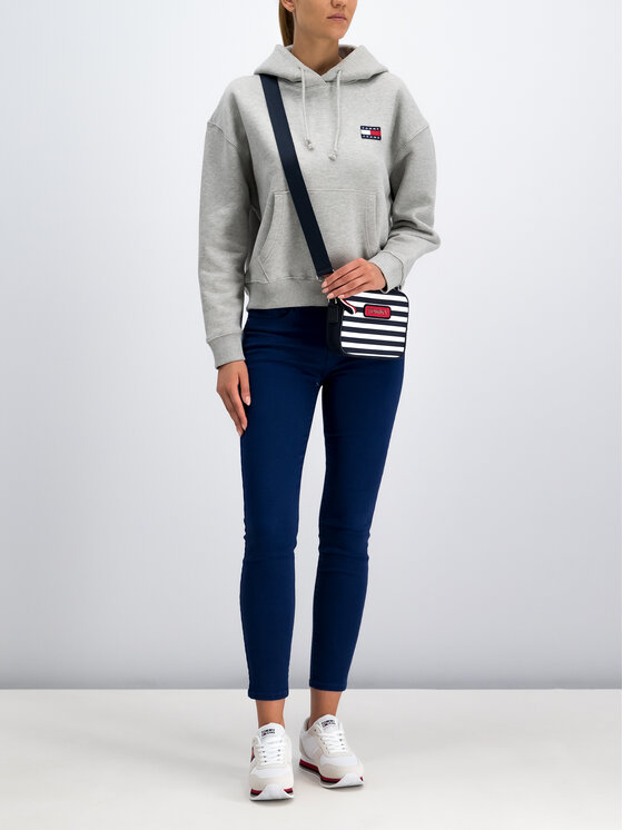 Tommy Jeans Tommy Jeans Bluză Badge Fleece DW0DW06815 Gri Oversize
