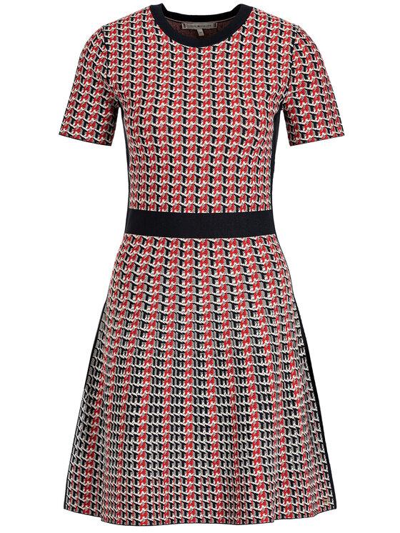 Tommy Hilfiger Tommy Hilfiger Úpletové šaty Varena WW0WW25354 Červená Slim Fit