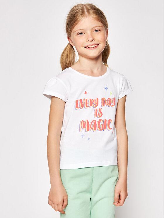 Billieblush Marškinėliai U15879 Balta Regular Fit