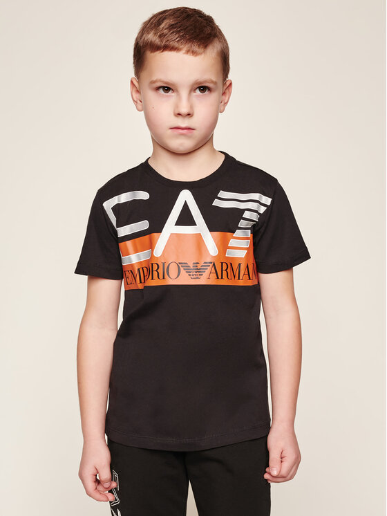 EA7 Emporio Armani EA7 Emporio Armani T-Shirt 6GBT55 BJ02Z 1200 Μαύρο Regular Fit