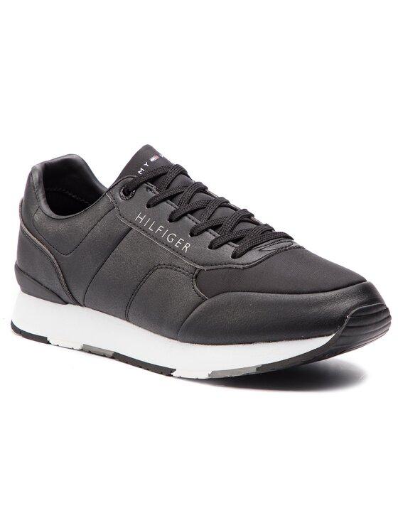 Tommy Hilfiger Tommy Hilfiger Sneakers Corporate Leather Runner FM0FM02057 Schwarz