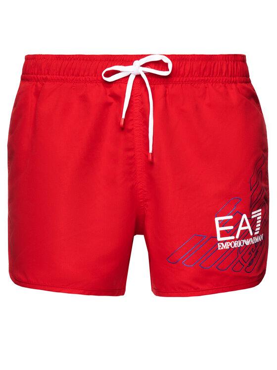 EA7 Emporio Armani EA7 Emporio Armani Szorty kąpielowe 902007 9P724 17574 Czerwony Regular Fit