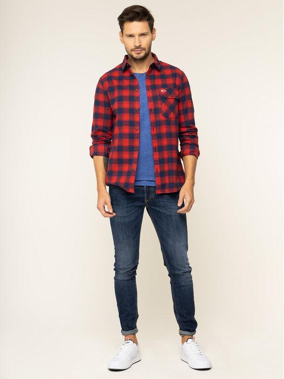 Tommy Jeans Tommy Jeans Košeľa Tjm Flannel Check Shirt DM0DM06936 Červená Regular Fit