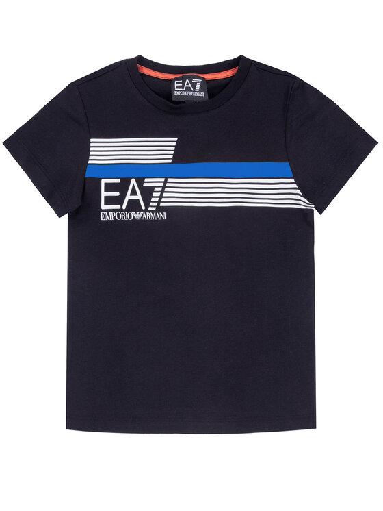EA7 Emporio Armani EA7 Emporio Armani T-Shirt 3HBT54 BJ7CZ 1554 Granatowy Regular Fit