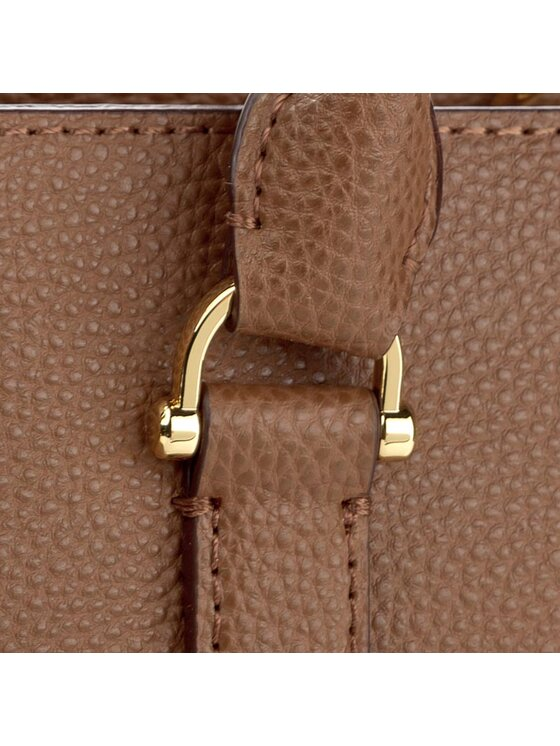 Lauren Ralph Lauren Lauren Ralph Lauren Borsa Brigitte II Satchel N91 XZDTO XYDTO XWDU8 Marrone