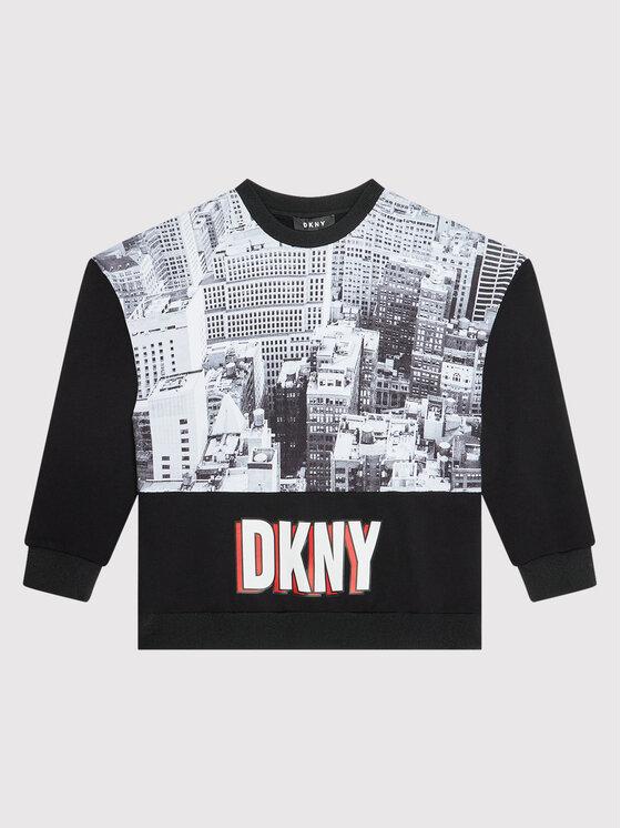 DKNY DKNY Majica dugih rukava D35R86 M Crna Regular Fit