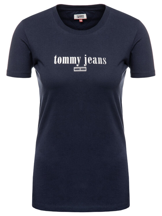 Tommy Jeans Tommy Jeans T-Shirt DW0DW06712 Granatowy Regular Fit
