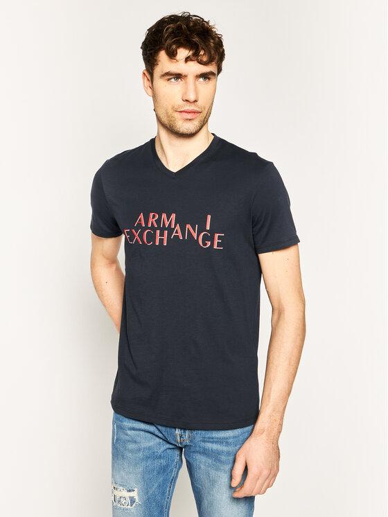 Armani Exchange Armani Exchange Marškinėliai 3HZTBH ZJA5Z 1510 Tamsiai mėlyna Regular Fit