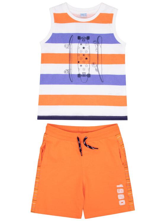 Mayoral Mayoral Set Top und Shorts 3606 Orange Regular Fit