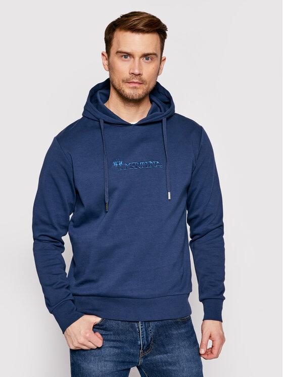 La Martina Džemperis RMF003 FP169 Tamsiai mėlyna Regular Fit