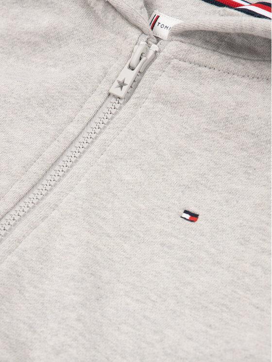 Tommy Hilfiger Tommy Hilfiger Bluză Essential Signature Zip KG0KG04944 D Gri Regular Fit