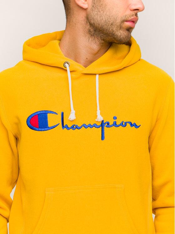 Champion Champion Pulóver 212574 Sárga Regular Fit