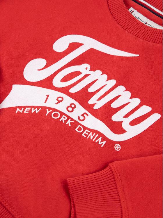Tommy Hilfiger Tommy Hilfiger Mikina 1985 KG0KG04955 M Červená Regular Fit