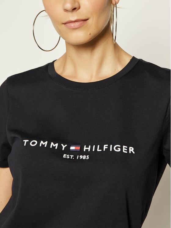 TOMMY HILFIGER TOMMY HILFIGER T-Shirt New Th Ess Hilfiger C-Nk Tee WW0WW26868 Tmavomodrá Regular Fit