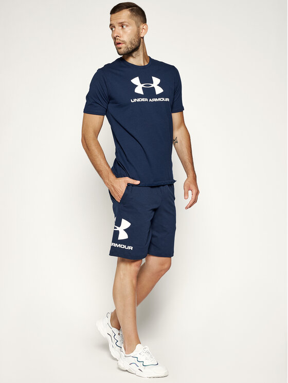 Under Armour Under Armour Тишърт Ua Sportstyle Logo 1329590 Тъмносин Loose Fit
