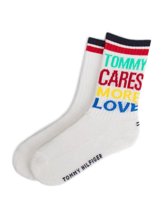 Tommy Hilfiger Tommy Hilfiger Σετ ψηλές κάλτσες παιδικές 2 τεμαχίων 394006001 Λευκό