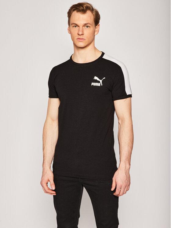 Puma Puma T-Shirt Iconic T7 581558 Schwarz Slim Fit