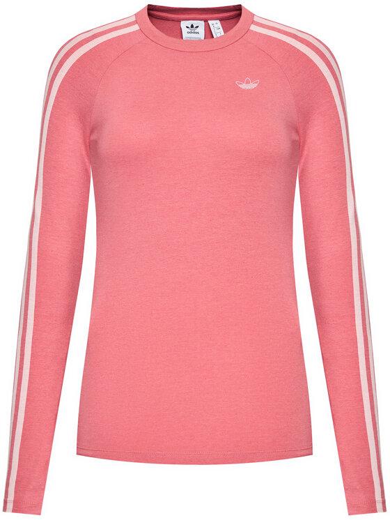 adidas adidas Bluzka Fakten GN4380 Różowy Slim Fit