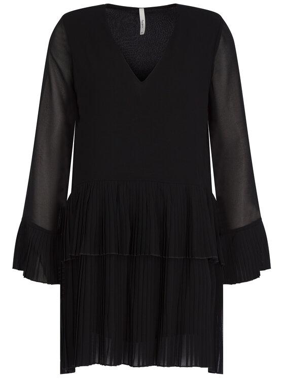 Pepe Jeans Pepe Jeans Koktejlové šaty Penelope PL952581 Čierna Regular Fit