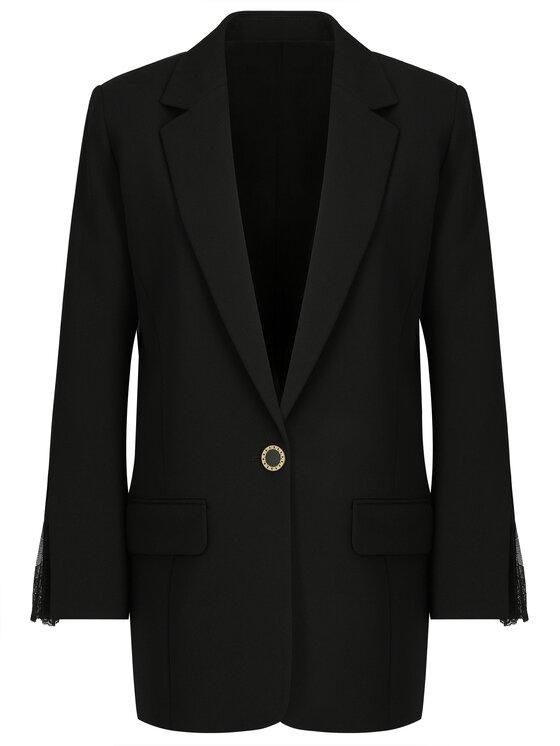 The Kooples The Kooples Blazer Marta Crepe FVES18063K Noir Regular Fit
