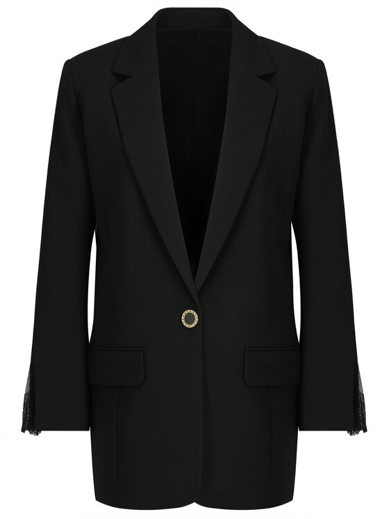 The Kooples The Kooples Blazer Marta Crepe FVES18063K Schwarz Regular Fit