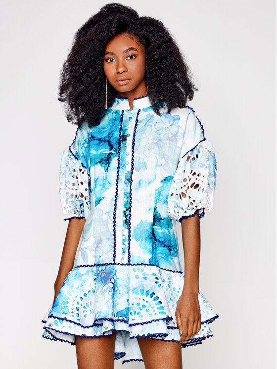 IXIAH Vasarinė suknelė IX22-80510 Mėlyna Regular Fit