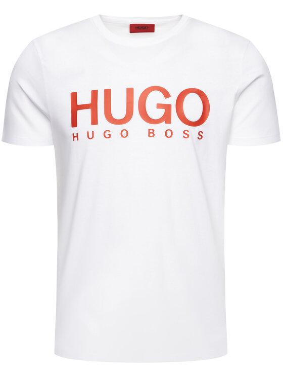 Hugo Hugo T-Shirt 50387414 Biały Relaxed Fit