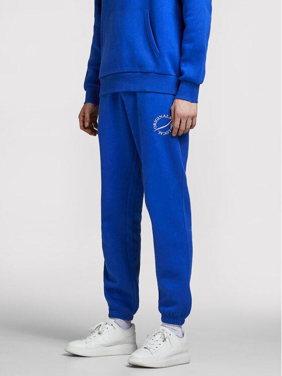 Jack&Jones Jack&Jones Spodnie dresowe Elias 12195676 Niebieski Comfort Fit