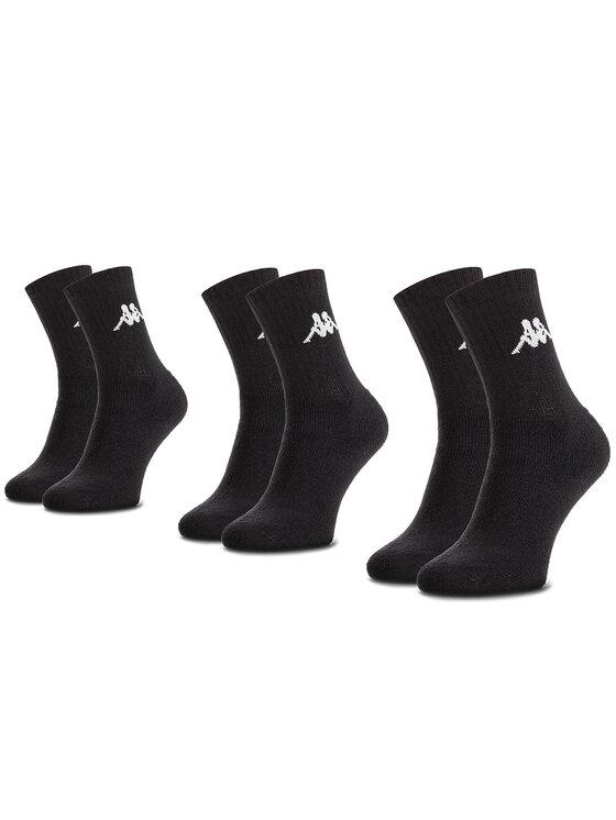 Kappa Kappa Σετ 3 ζευγάρια ψηλές κάλτσες unisex Sonotu 704304 Μαύρο