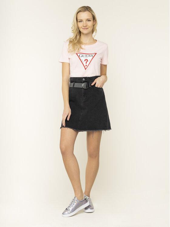 Guess Guess T-Shirt Basic Triangle Tee W01I98 JA900 Ροζ Regular Fit