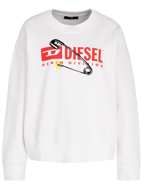 Diesel Diesel Džemperis Magda 00S78P 0IAJH Balta Regular Fit