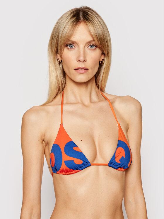 Dsquared2 Bikinio viršus Triangle D6BX62930 Oranžinė