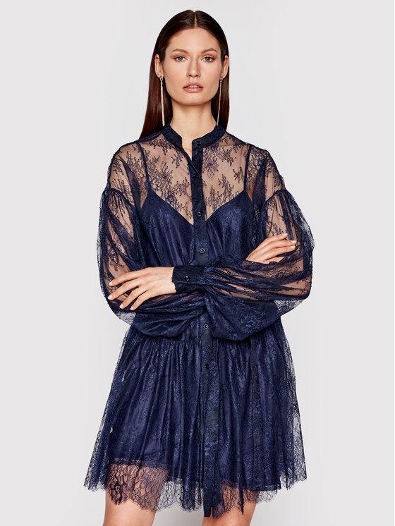 Ermanno Firenze Kokteilinė suknelė AB11PIZ Tamsiai mėlyna Regular Fit