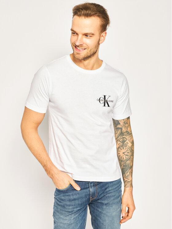 Calvin Klein Jeans Calvin Klein Jeans T-shirt Monogram Embro J30J313438 Bianco Regular Fit