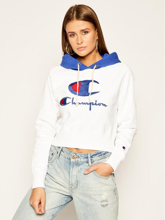 Champion Champion Bluza 112534 WW001 Biały Regular Fit
