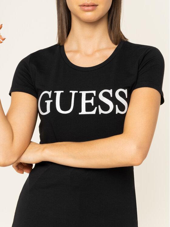 Guess Guess Póló Crystal W01I74 J1300 Fekete Regular Fit