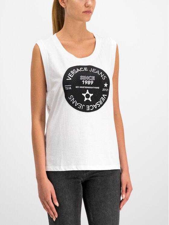 Versace Jeans Versace Jeans Top D3HTB6T8 Blanc Regular Fit