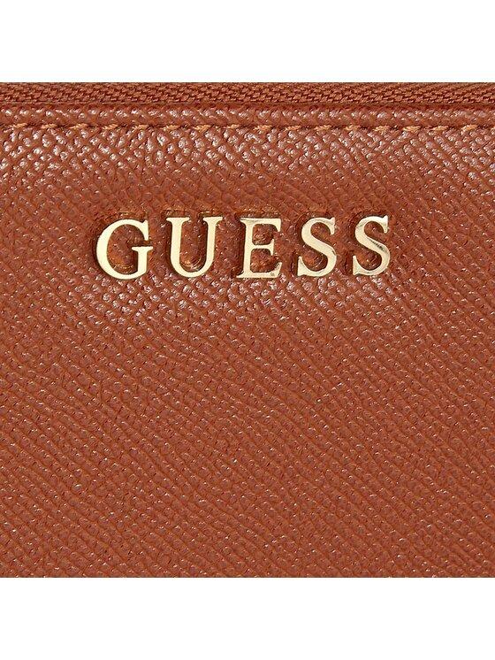 Guess Guess Duży Portfel Damski SWISAB P6446 Brązowy