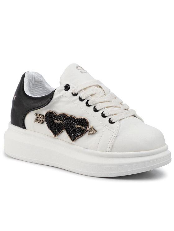 Silvian Heach Silvian Heach Sneakersy Sneakers Sh Heart RCA19089CZ Biela