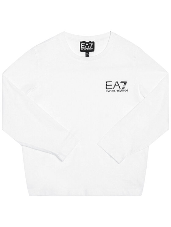 EA7 Emporio Armani EA7 Emporio Armani Bluzka 6HBT52 BJ02Z 1100 Biały Regular Fit