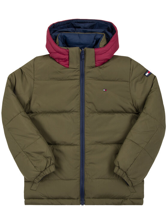 TOMMY HILFIGER TOMMY HILFIGER Giubbotto piumino Removable KB0KB04935 S Verde Regular Fit