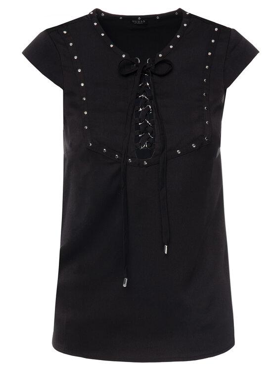 Guess Guess Блуза W93H81 WAF20 Черен Regular Fit