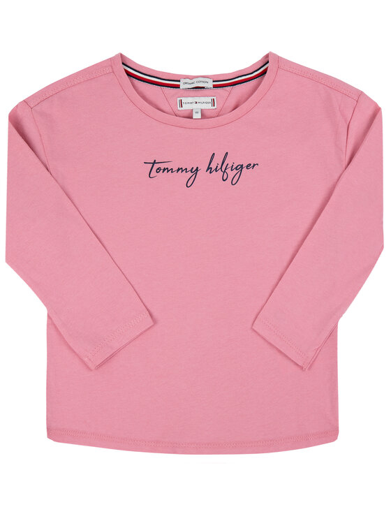 Tommy Hilfiger Tommy Hilfiger Bluzka Sequins KG0KG04581 M Różowy Regular Fit