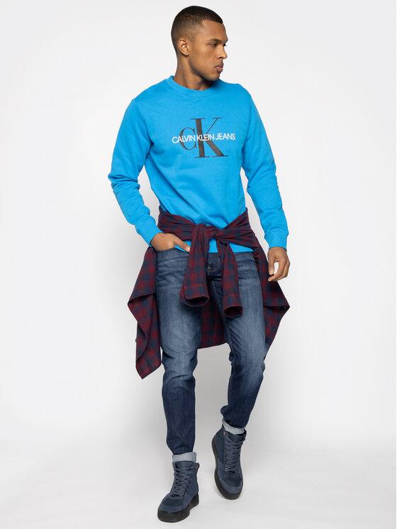 Calvin Klein Jeans Calvin Klein Jeans Sweatshirt Monogram Logo J30J314692 Blau Regular Fit