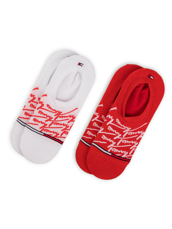 Tommy Hilfiger Tommy Hilfiger Súprava 2 párov krátkych pánskych ponožiek 391009001 Červená