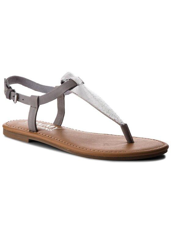 Tommy Jeans Tommy Jeans Žabky Metallic Flat Thong Sandal EN0EN00205 Stříbrná