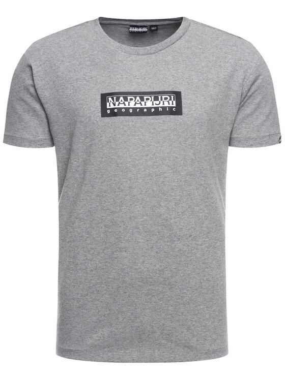 Napapijri Napapijri T-shirt Sox SS N0YKBS Grigio Regular Fit
