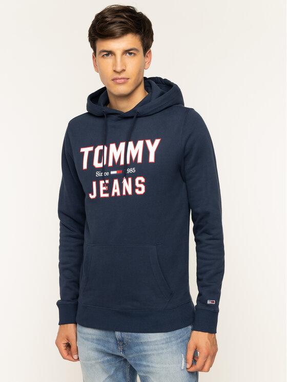 Tommy Jeans Tommy Jeans Mikina Essential 1985 DM0DM07025 Tmavomodrá Loose Fit